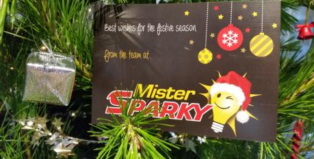 Mister Sparky Christmas wishes